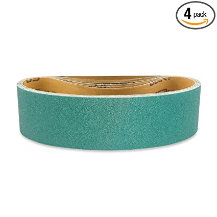 12 Pack, 50 Grit 3 X 21 Inch Sanding Belts Zirconia Cloth Narrow Sander Belts