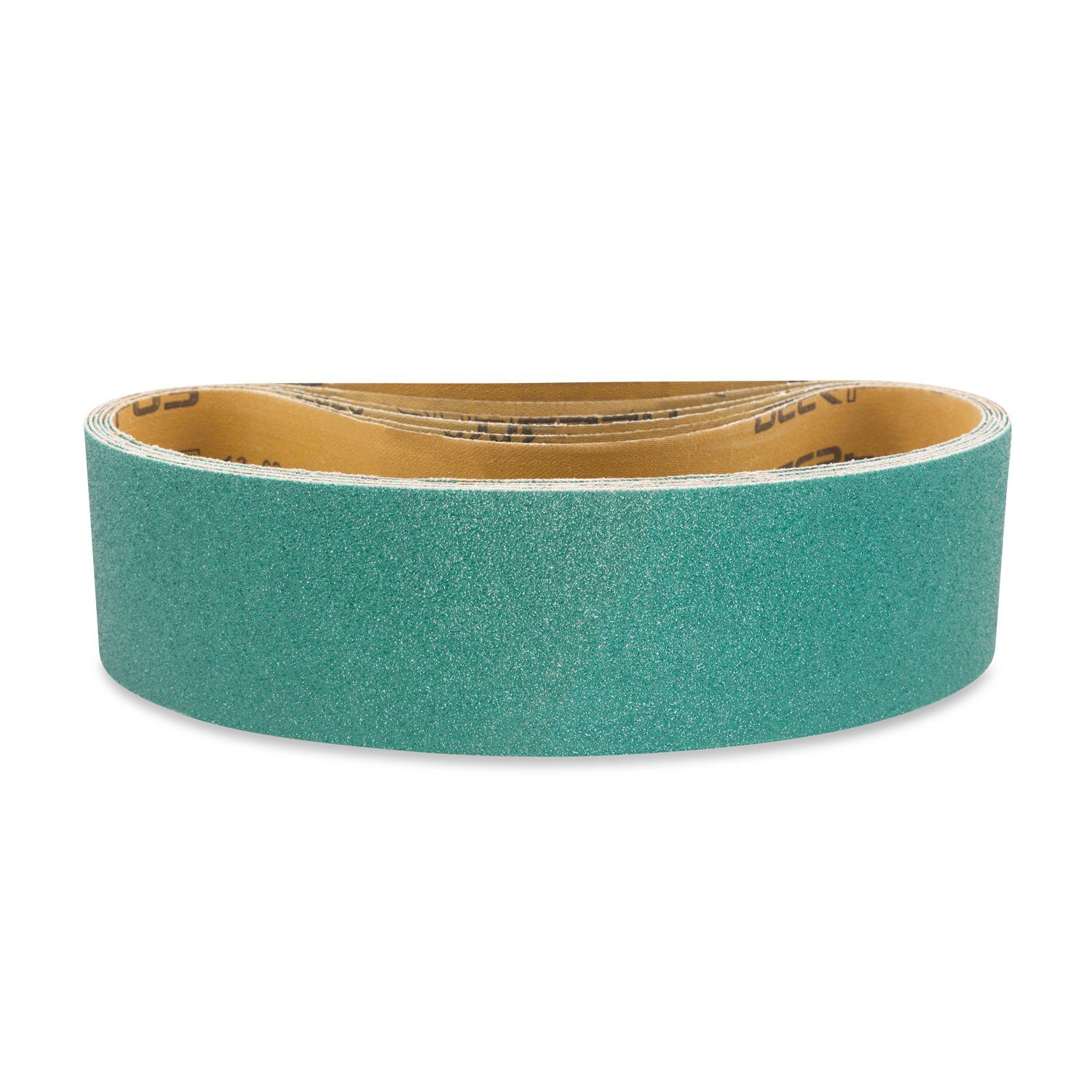 3 X 21 Inch 120 Grit Metal Grinding Zirconia Sanding Belts, 4 Pack by Red Label Abrasives