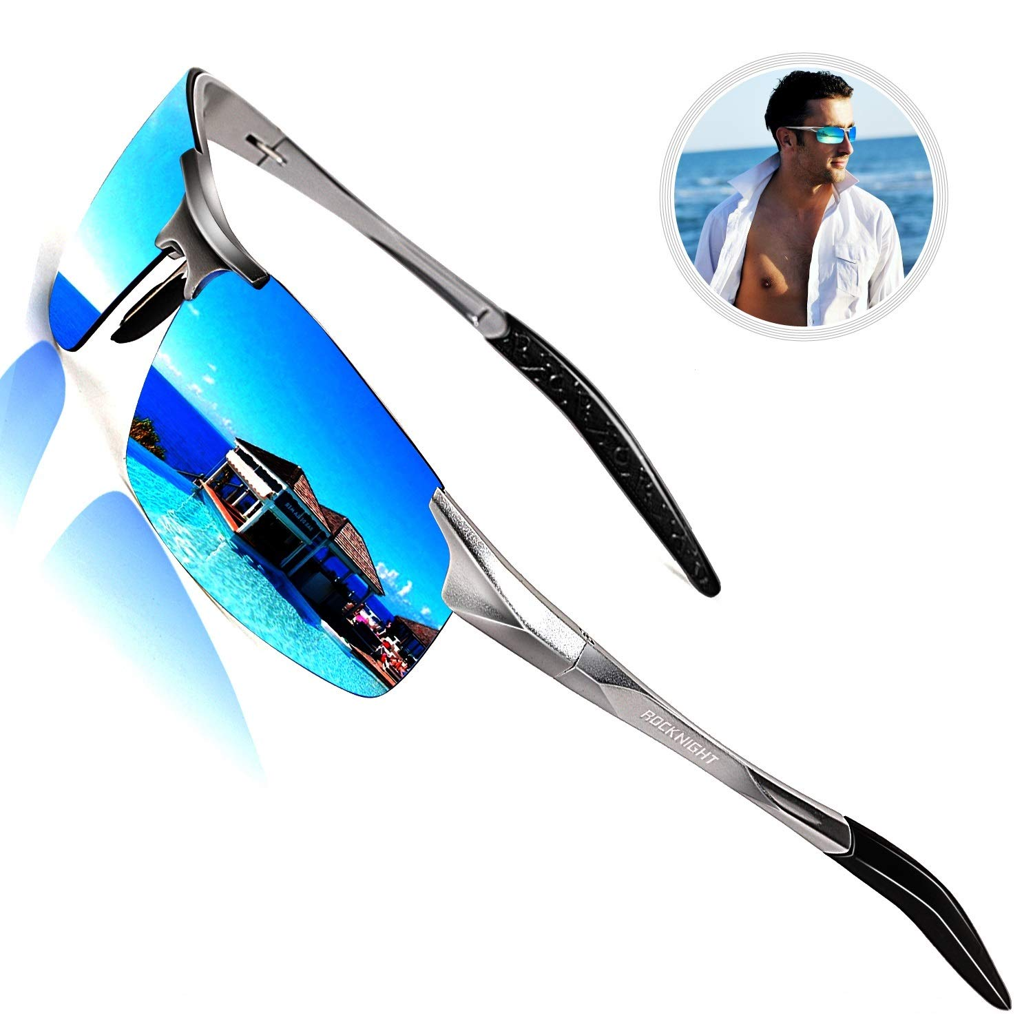 6408ab199f ROCKNIGHT Driving Polarized Sunglasses for Men UV Protection Ultra ...