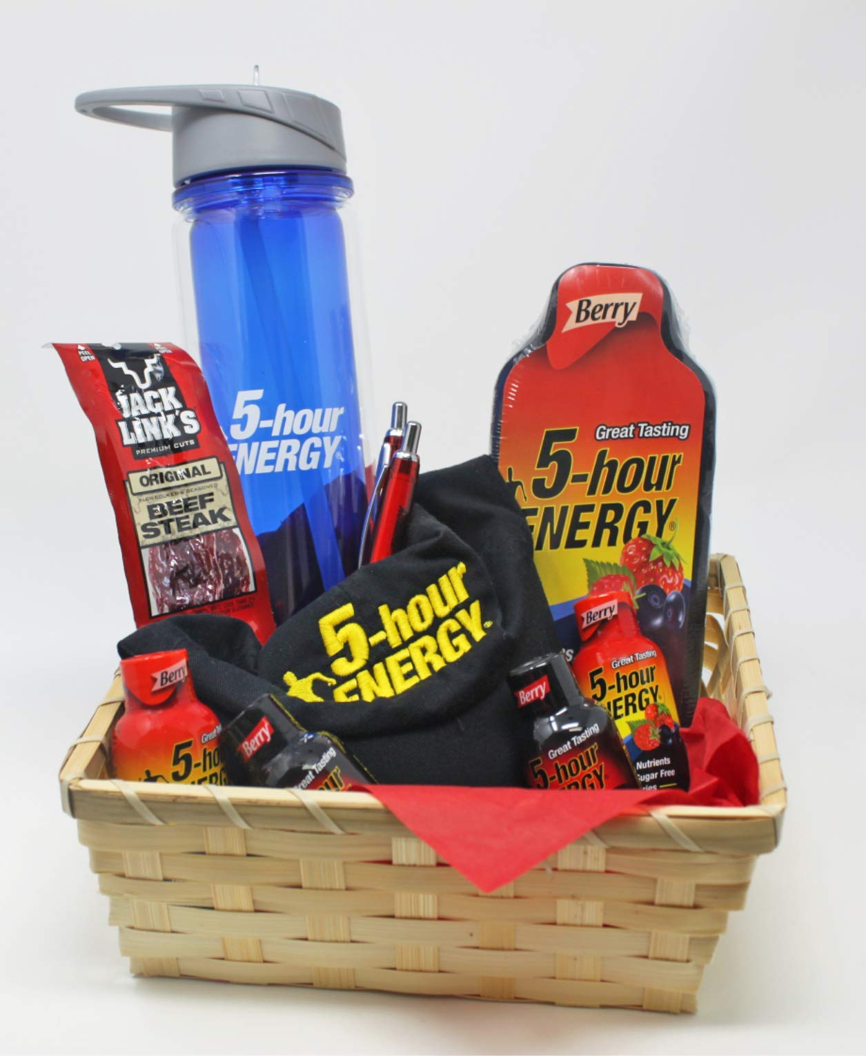 5 Hour Energy Gift Basket with Logo Apparel, Water Bottle and More. Energy On The Go. by Online 24/7