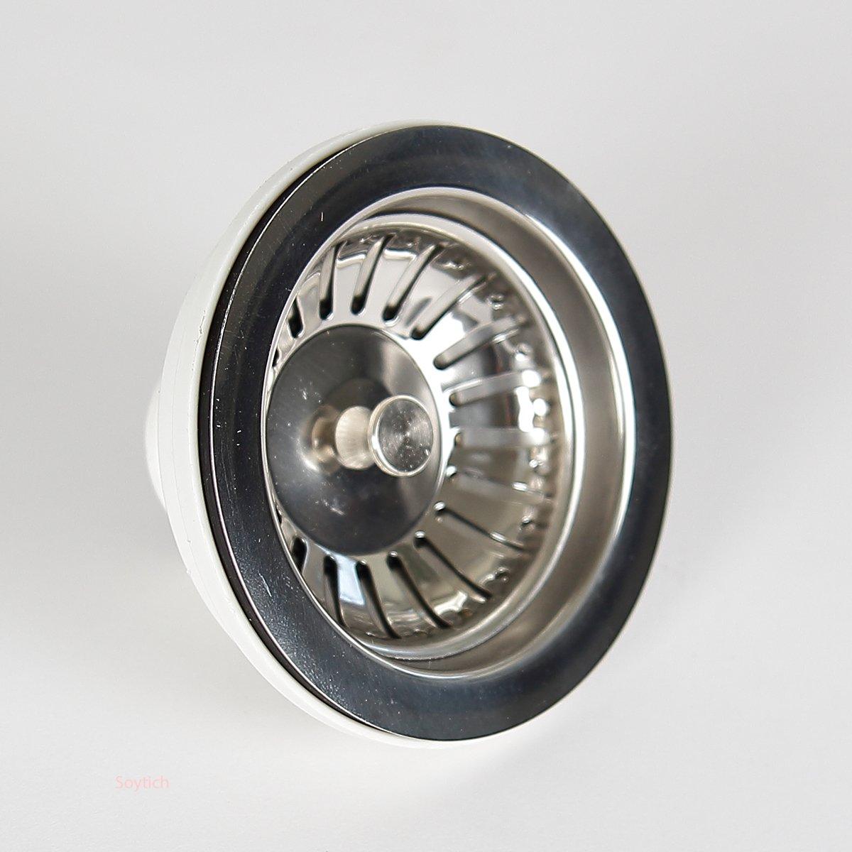 114 mm Abflusssieb Spülenablauf Spülen-Siebkorbventil 3 1//2 Zoll Siebkorb 02