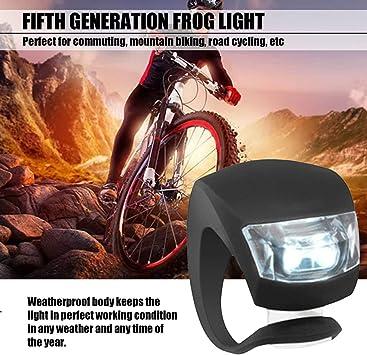 Moliies Lámpara de Ciclismo LED de Silicona Luz Delantera de ...
