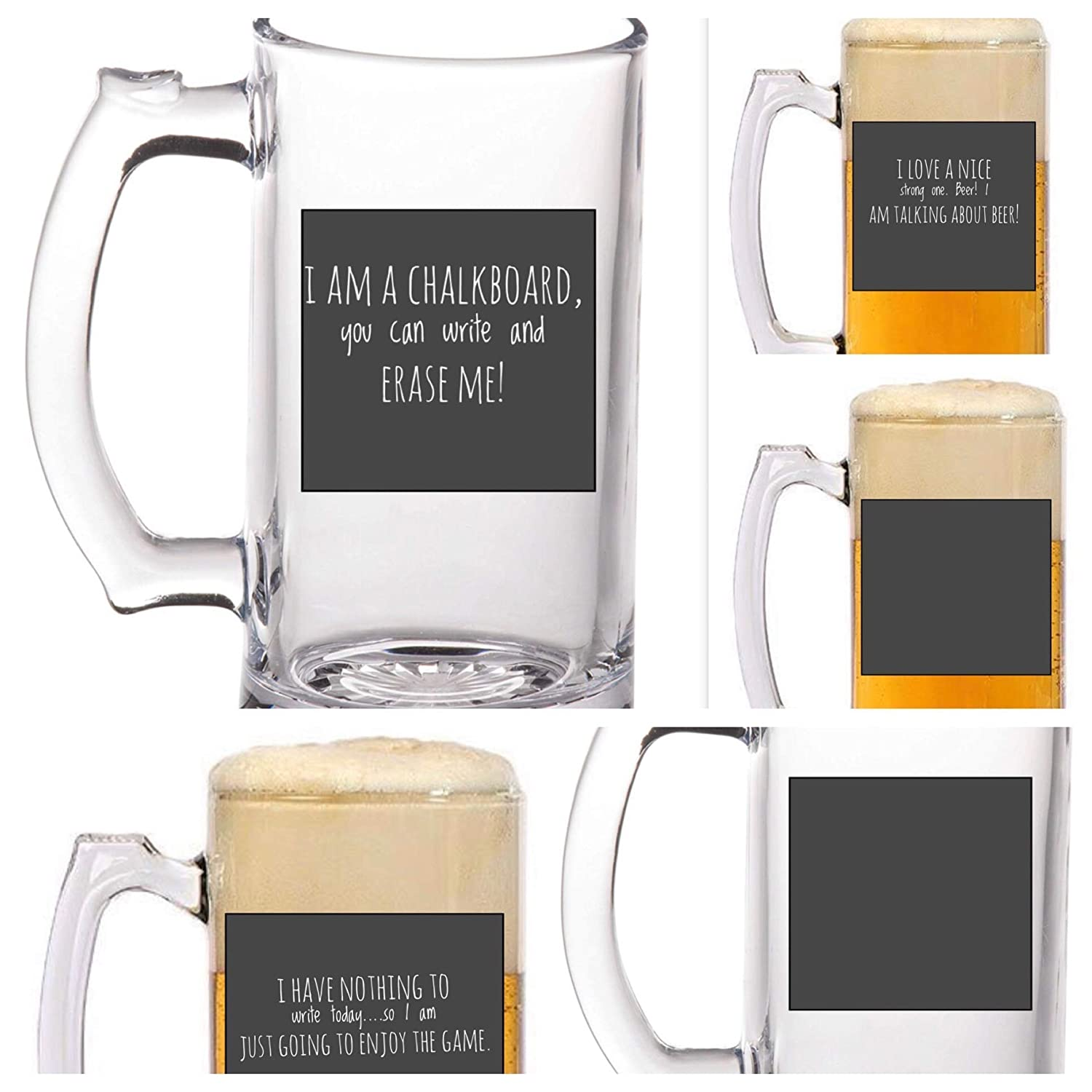 Chalkboard drinking mugs by M/&M Events and Things Chalkboard mugs Chalkboard Beer mugs Chalkboard drinking cups