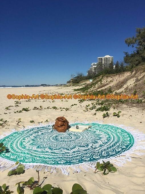 Sophia-Art - Manta Redonda de algodón para Yoga, Yoga, Bohemio ...