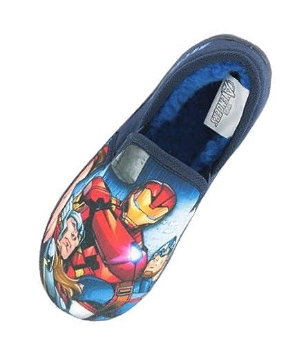 d54294618f67 Boys Marvel Avengers Hulk Iron Man Thor Captain America Slip On Slippers  Shoes Black Toddler Children Size UK 7-3  Amazon.co.uk  Shoes   Bags