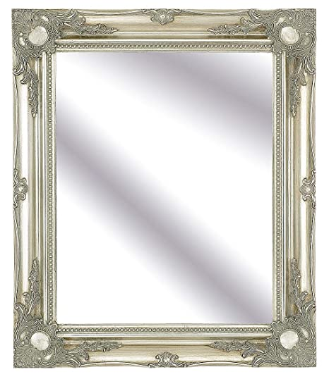 30inch x 26inch Large Silver Classic Frame Antique Design Ornate ...