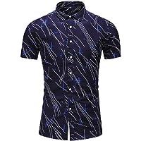 MITIY Men Clothes Camisas de Vestir para Hombre, Casuales, Ajustadas, con Botones, de Manga Corta, Colores sólidos…