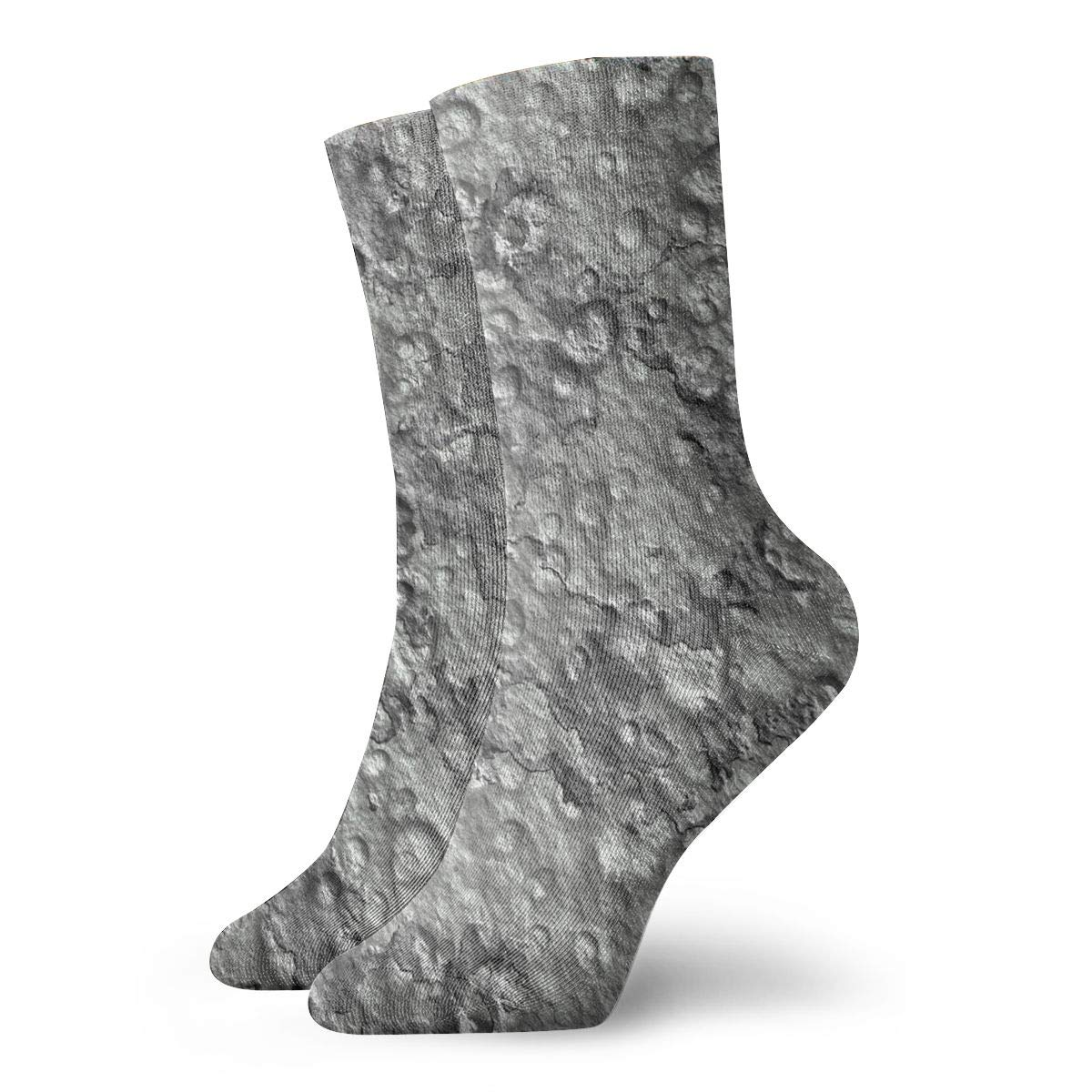 Running Baseball TAOMAP89 A Moon Crater Tiles Pattern Compression Ankle Socks for Women and Men Wool Stance Socks Best for Flight