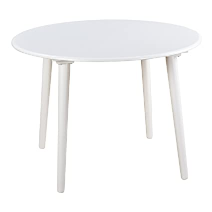 Target Marketing Systems Round Florence Table 42 Inch White