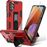 HATOSHI [6 Items] Samsung Galaxy A32 5G Case with 2 Pack Tempered Glass Screen Protector and 3 Pack Independent Camera Lens P