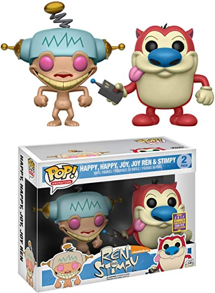 New 2 Inches Nickelodeon Figurine REN /& STIMPY Collectible Figures