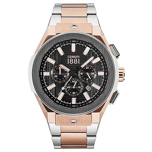 49a6264bb1c CERRUTI 1881 Ruscello Chronograph Steel Watch CRA163SRU02MRT: Amazon.co.uk:  Watches