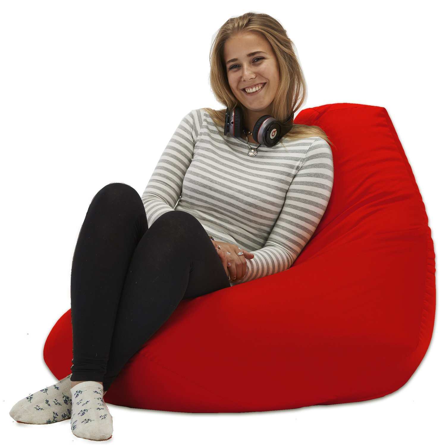 XX L Red Highback Beanbag Chair Water resistant Bean bags for