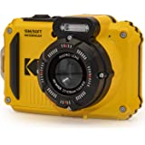 "KODAK PIXPRO WPZ2 Rugged Waterproof Digital Camera 16MP 4X Optical Zoom 2.7"" LCD Full HD Video, Yellow"