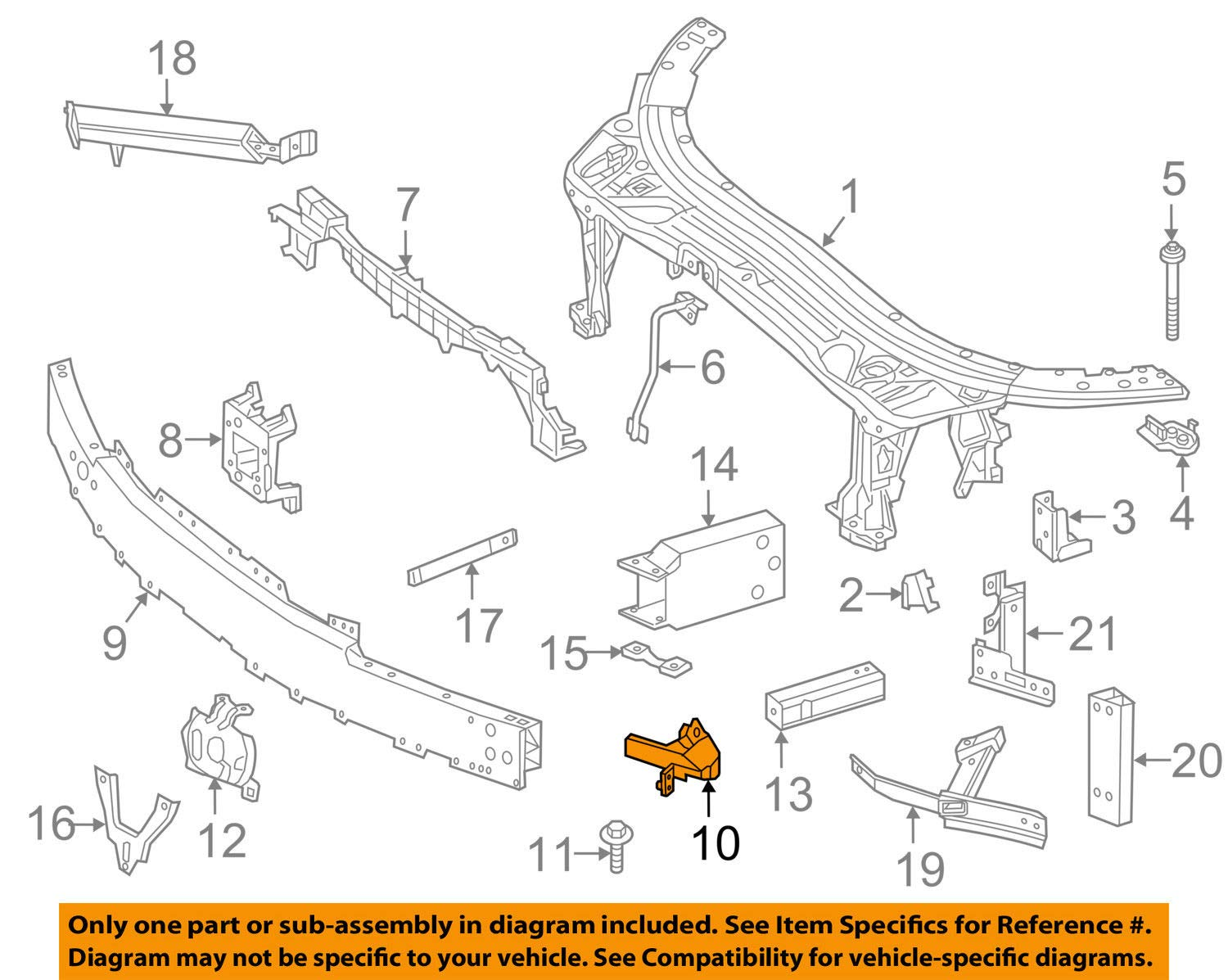 Genuine Mercedes-Benz Impact Bar Side Bracket 205-620-35-01