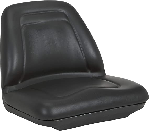 A & I Deluxe Midback Utility Lawn Mower Seat - Black