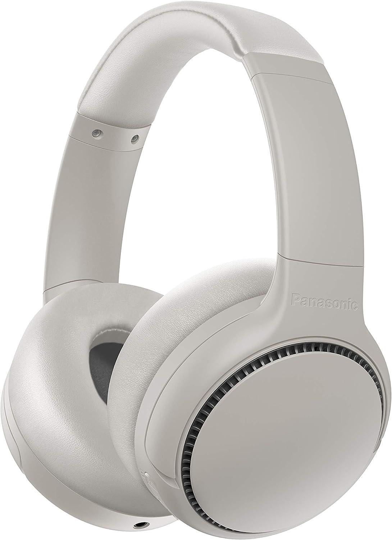 Panasonic RB-M500BE-C - Auriculares inalámbricos Bluetooth (vibración de Auriculares, Control por Voz, XBS Potenciador de Bajos, Cable de 1.2 m, batería de hasta 30 h), Blanco