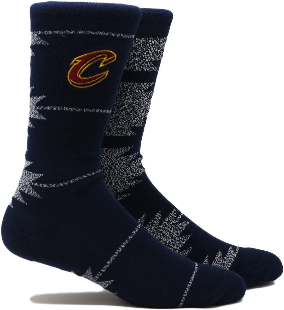 Pkwy NBA Cleveland Cavaliers Unisex Cavaliers Geo Crewcrew Socks