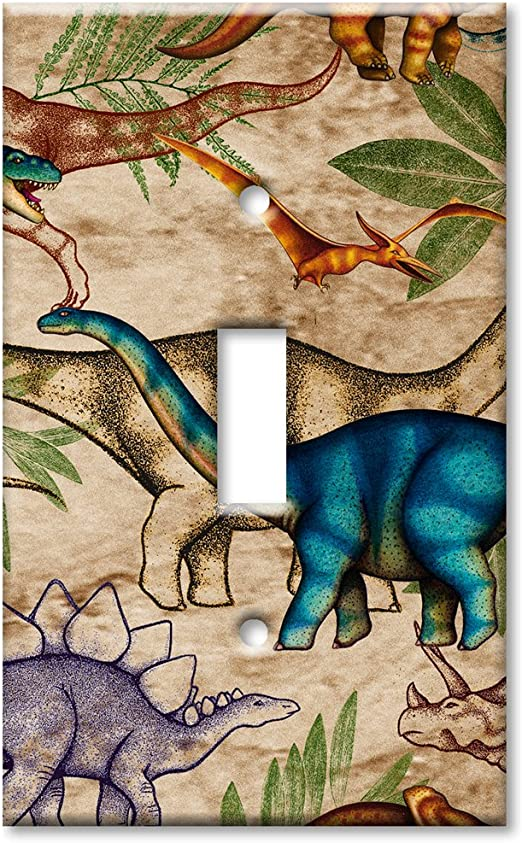 Dinosaur Toss Art Plates Outlet Cover OVERSIZE Switch Plate//OVER SIZE Wall Plate