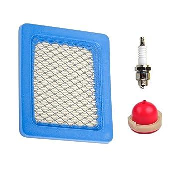 Bombilla de repuesto para filtro de aire para Briggs & Stratton 491588S, 4915885,