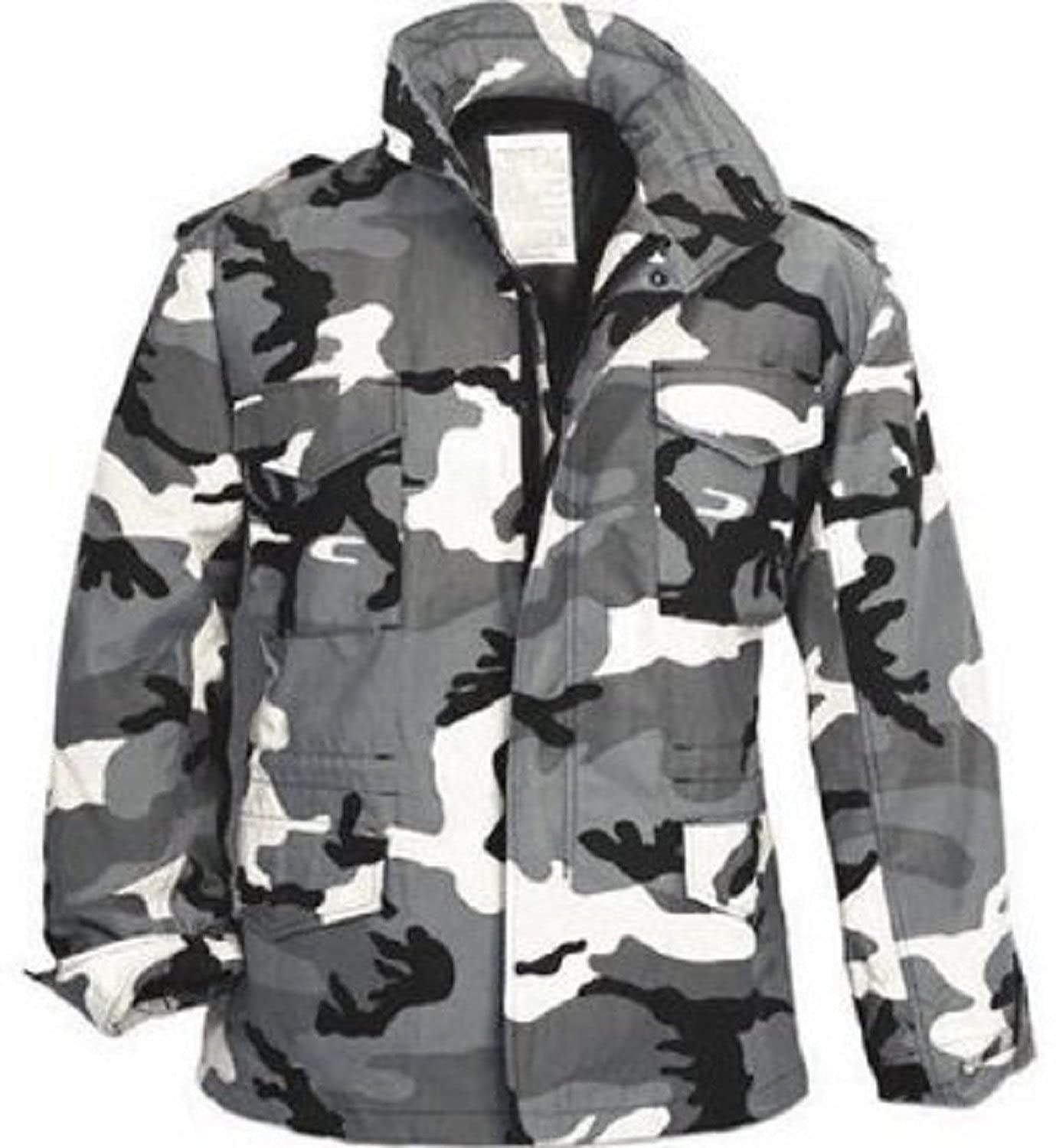 Amazon.com  City Camouflage M-65 Field Jacket (Large)  Military Coats And  Jackets  Clothing a801f2d5ca9