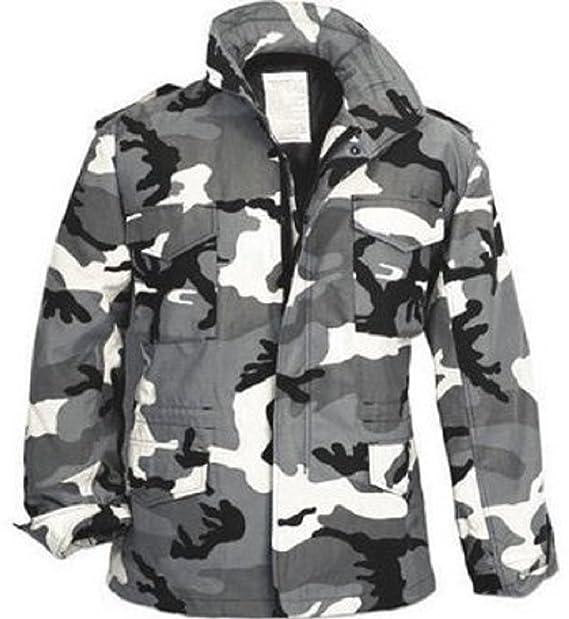 Amazon.com  City Camouflage M-65 Field Jacket (Large)  Military ... c3b341044c