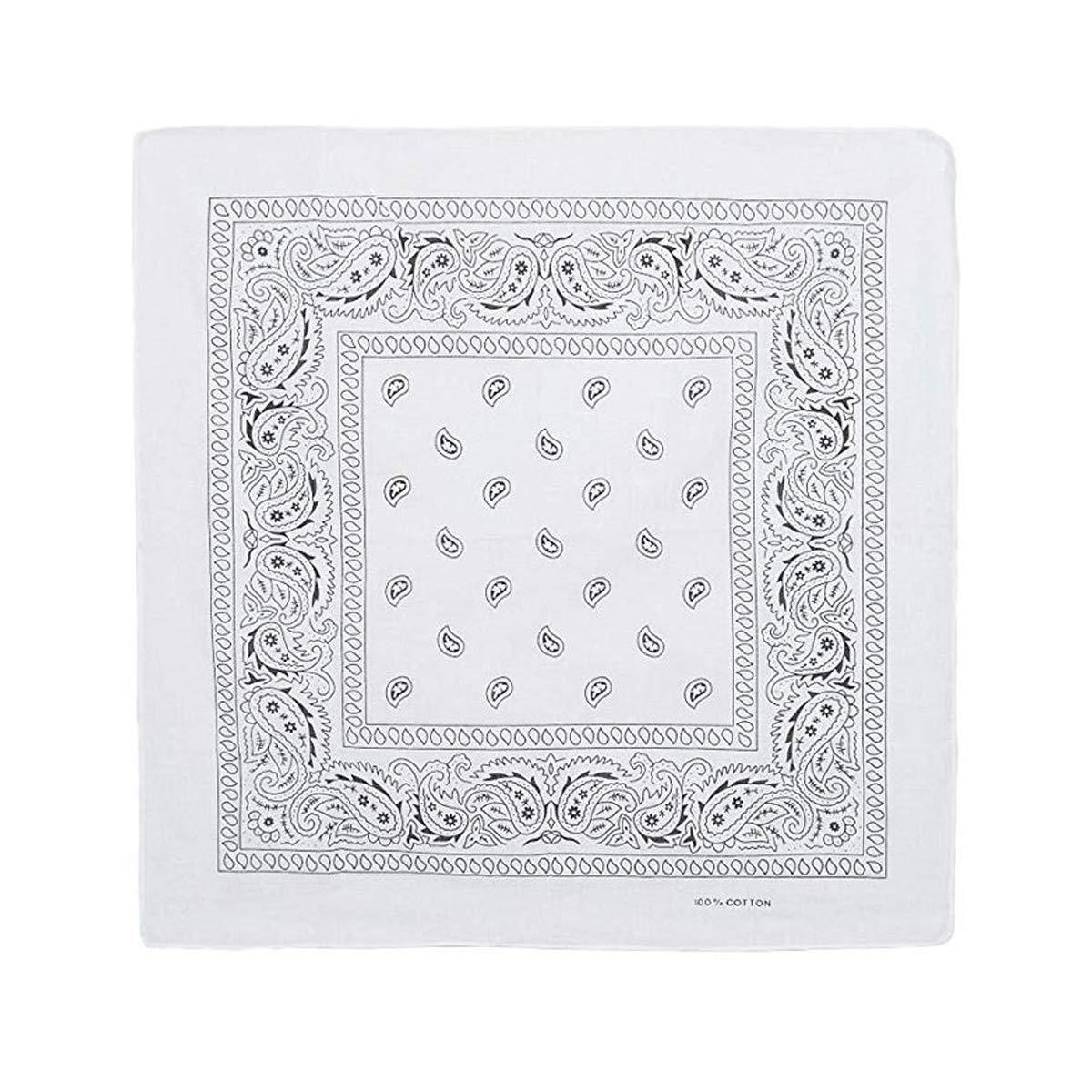 Set di Tre fazzoletti Bandana in Cotone Microfibra per Testa o Collo Fazzoletto Unisex per Uomo e Donna Cisne 2013 Colore: Rosso S.L Nero e Bianco. Dimensioni: Circa 55 x 55 cm