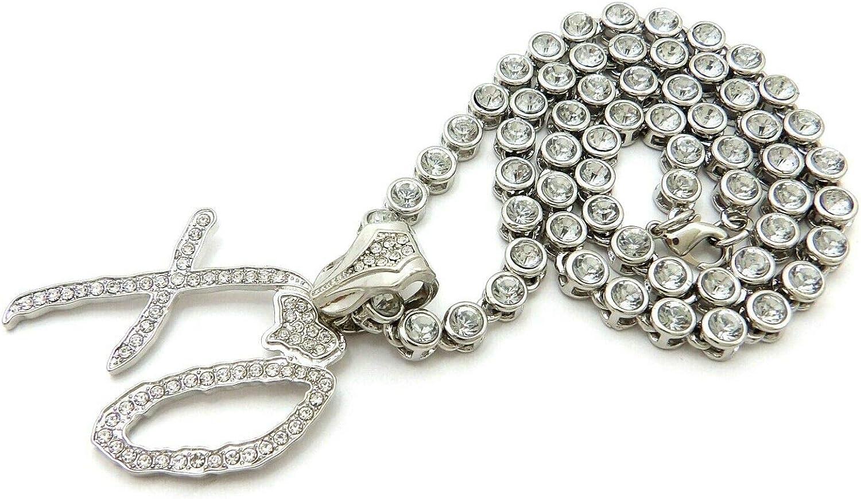 "Hip Hop DOUGHBOY Pendant /& Iced 18/"" 1 Row Big CZ Choker Chain Bling Necklace"