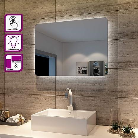 LED Badezimmerspiegel Lichtspiegel Badspiegel Wandspiegel Mit Touch Beschlagfrei