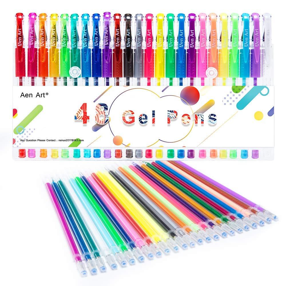 Coloring Gel Pens - 24 Color D...