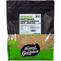 Honest to Goodness Biodynamic Rain Fed Medium Grain Rice - Brown, 5 kg
