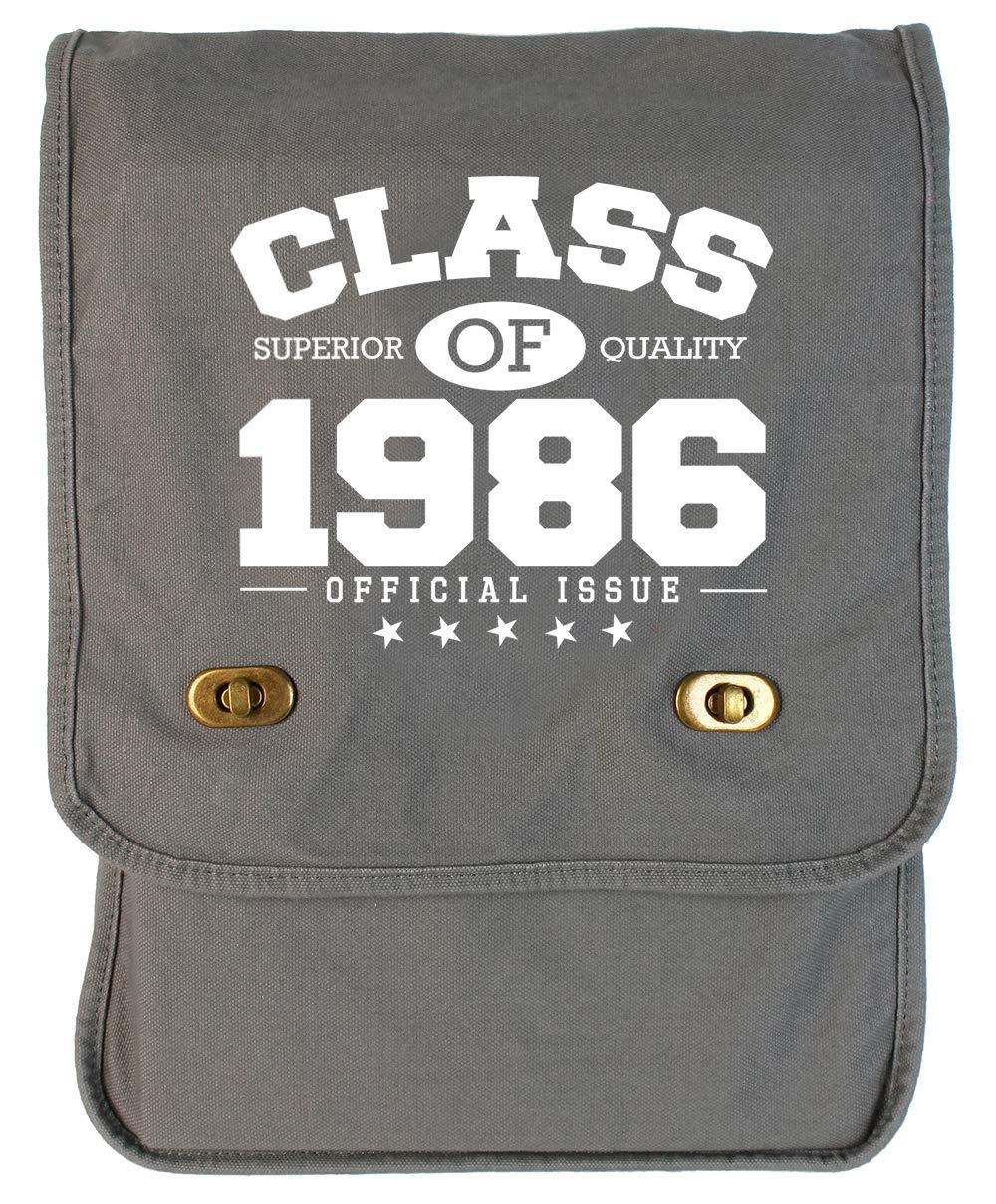 Tenacitee Class of 1986 Grey Brushed Canvas Messenger Bag