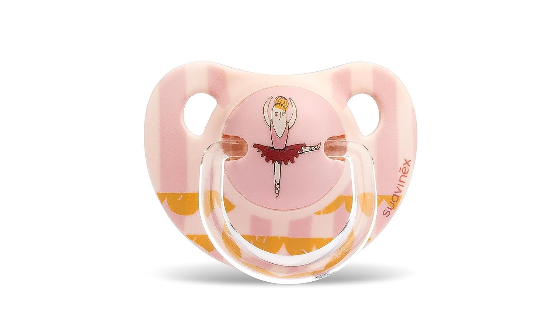 Chupete0-6 meses tetina anat/ómica de l/átex Suavinex 303823 color rosa
