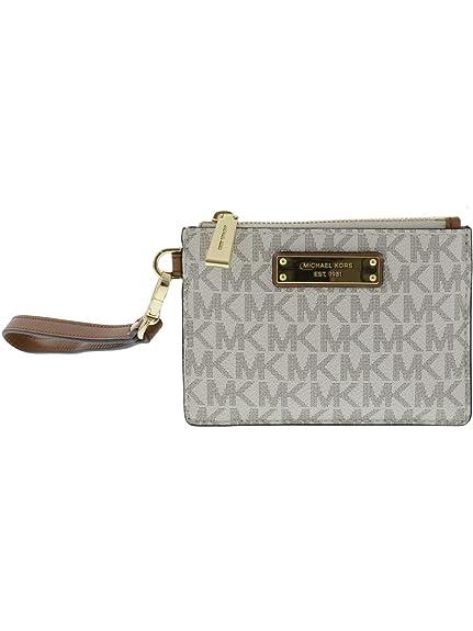 be29d90293361 MICHAEL Michael Kors Mercer Logo Coin Purse - Vanilla  Amazon.co.uk  Shoes    Bags