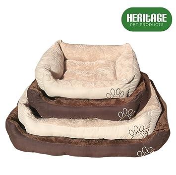 Heritage Pet Products Deluxe - Cesta de cama para mascotas, suave, lavable, cálida, con forro polar: Amazon.es: Productos para mascotas