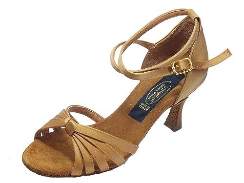 Scarpa da donna per ballo latino-americano in raso color tanganica tacco  70N  Amazon.it  Scarpe e borse 98ff9c3e5db
