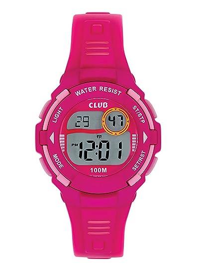 Club Reloj de pulsera niña, niños digital Relojes Deportes resistente al agua reloj de pulsera rosa a47107r2e: Amazon.es: Relojes