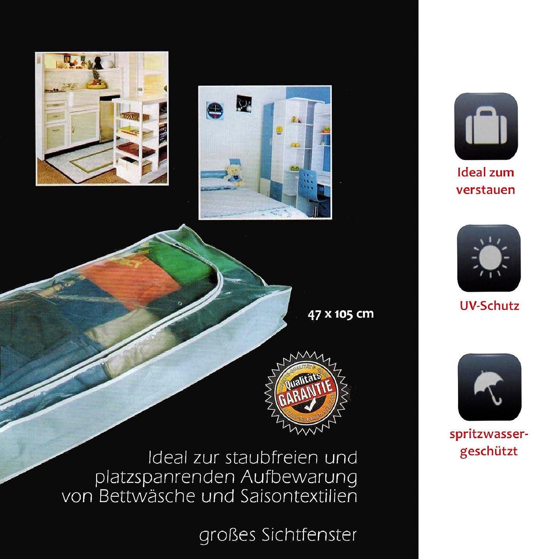 Unterbettkommode 105x47x14cm Aufbewahrung Kleidersack mit Rei/ßverschlu/ß