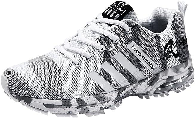 Wealsex Zapatos para Correr En Montaña Asfalto Aire Libre Deportes Zapatillas De Running para Hombre Cojín de Aire Camo Estilo Zapatos Casuales: Amazon.es: Zapatos y complementos