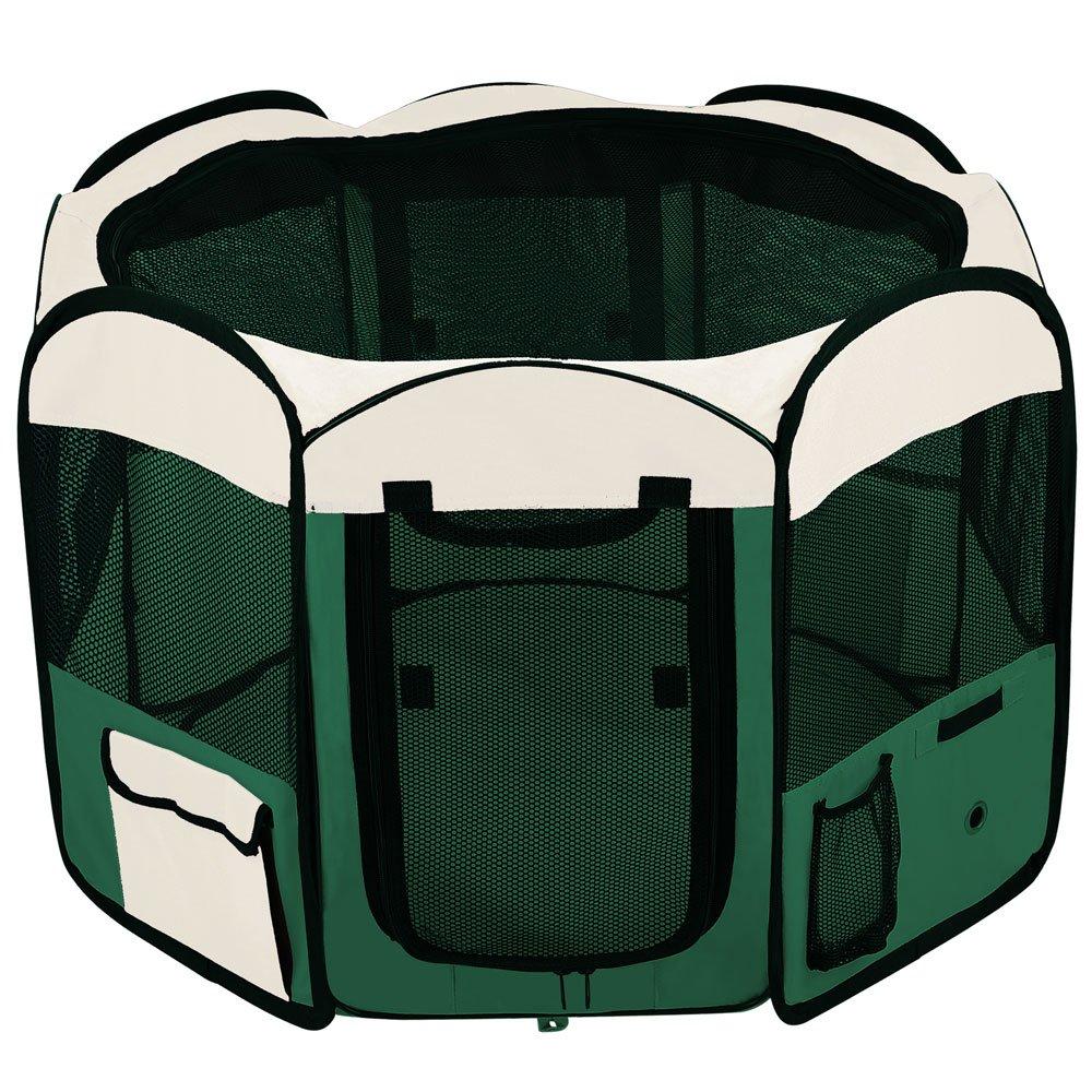 Green 48'' Octagon Portable Playpen Pet Dog Crate