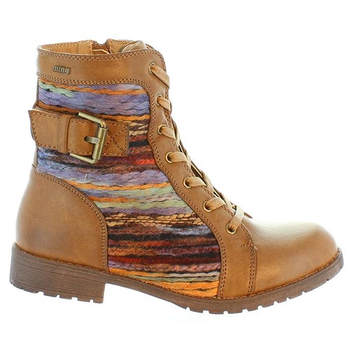 MTNG 52703 Beige - Chaussures Bottine Femme