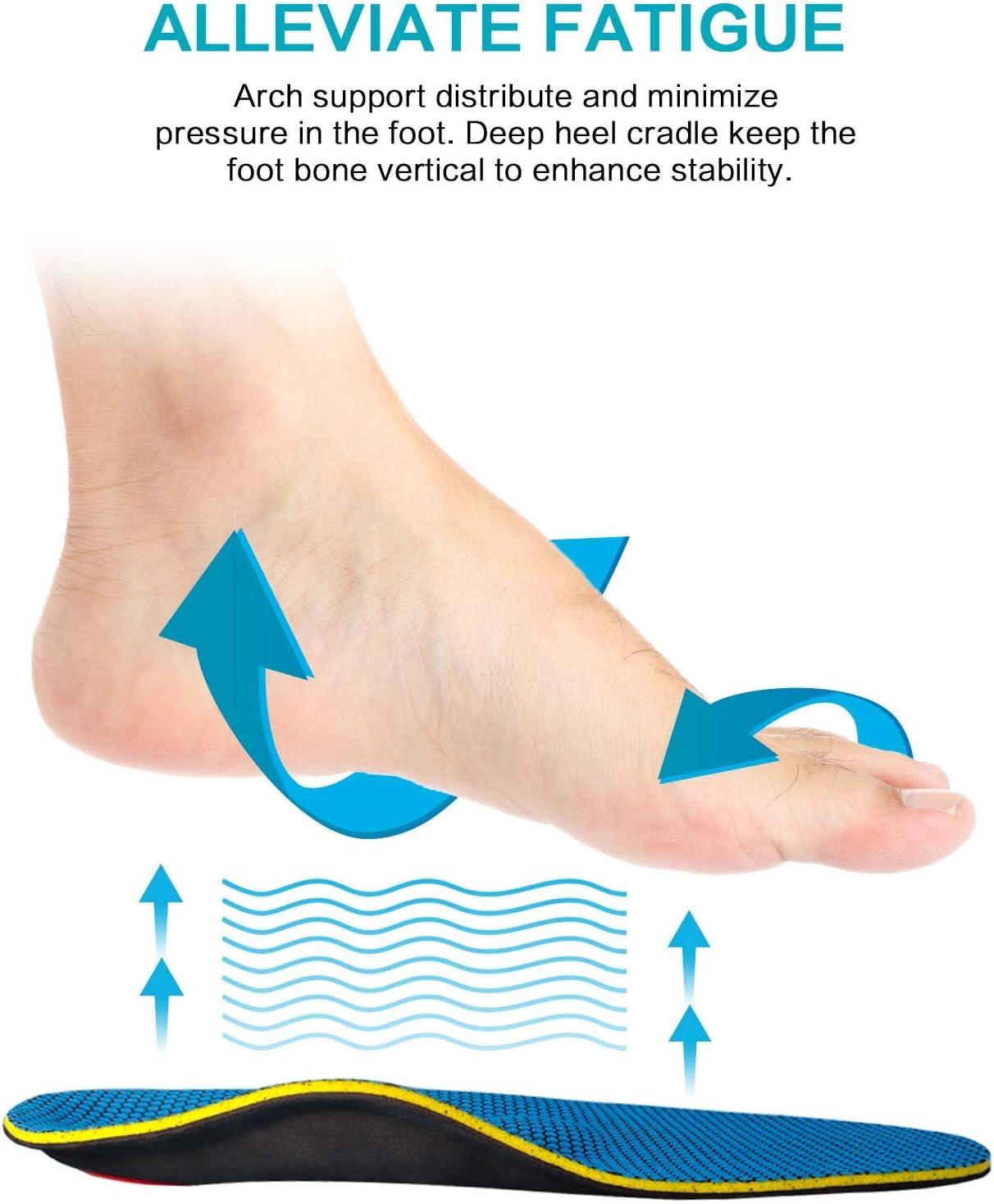 /épine calcan/éenne pied plat fasciite plantaire les douleurs du genou MOISO Semelles orthop/édiques soutient de la voute plantaire pour les douleurs au niveau du talon
