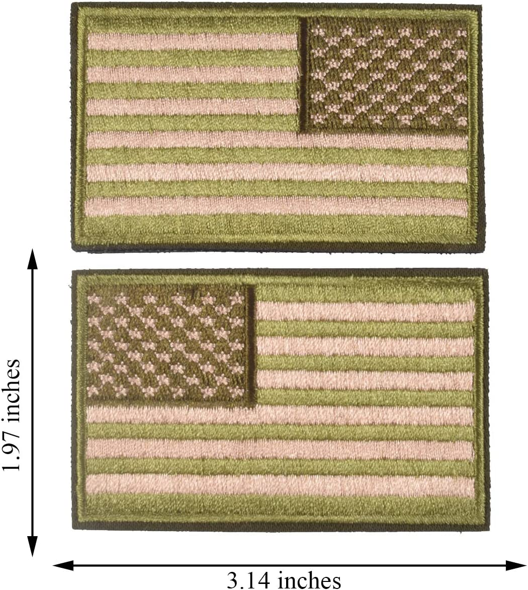 USA Flag Patch 2x3 Inch Dont Tread on me Patch American Flag Tactical Military Morale Patch Border USA United States for Uniform Emblem 2 Pcs.