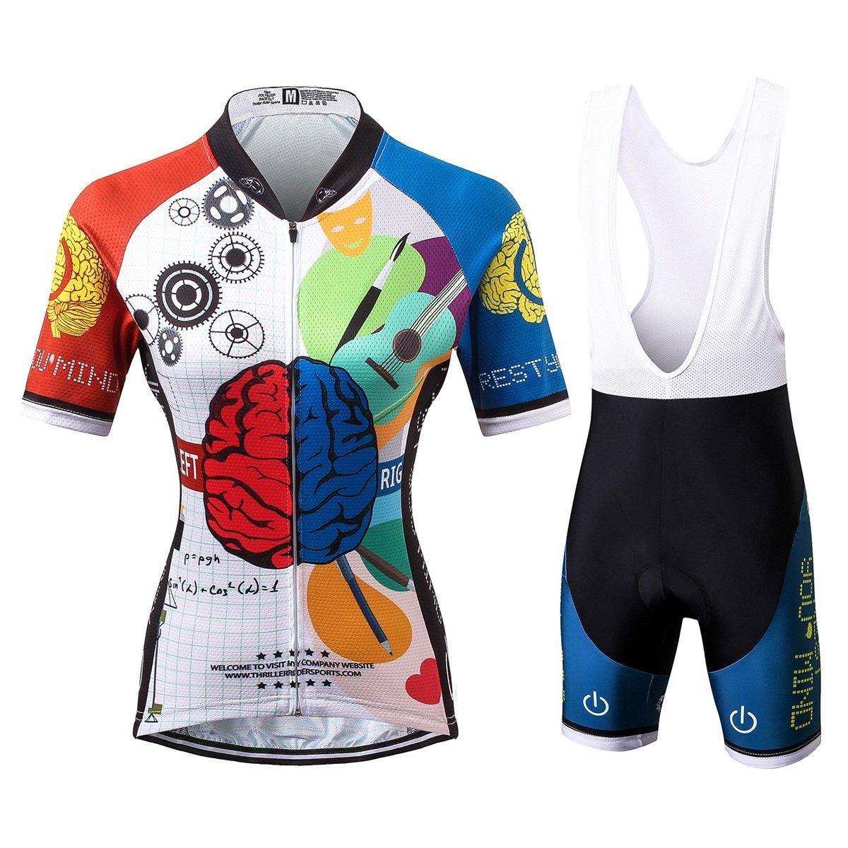 Thriller RiderスポーツWomens Rest Your Mindアウトドアスポーツマウンテンバイク半袖サイクリングジャージー B0755WH96F  ビブスーツ 2X-Large = Chest 43.5''