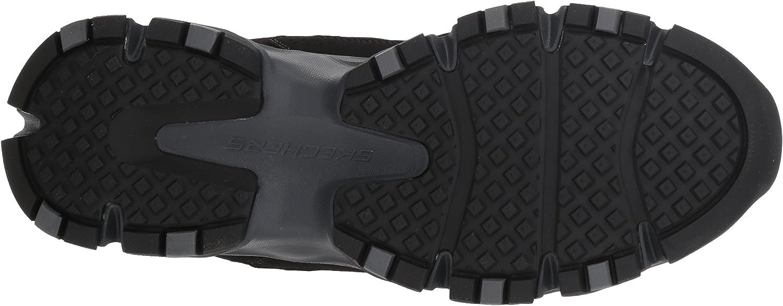 Skechers Crossbar Trainers voor heren Zwart Zwart Houtskool Bkcc