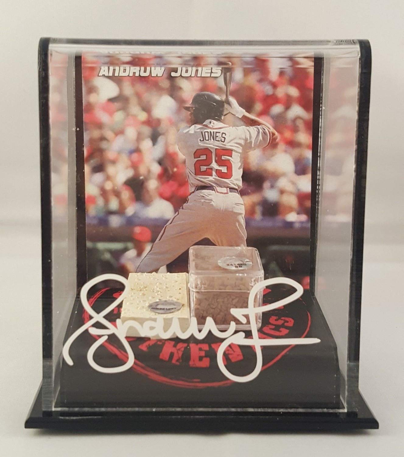 Andruw Jones Autographed Autographed Signed Game Used Dirt&Base Atlanta Braves JSA