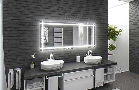 Specchio con illuminazione fontana m l design specchio per