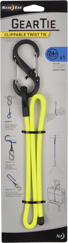 "Nite Ize Gear Tie Clippable Twist Tie 24/"" Bright Orange GLC24-31-R3 NEW"