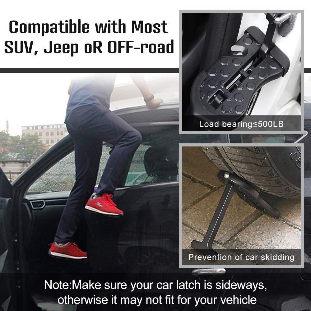 2019 Update 5 in 1 Rooftop Doorstep for Car SUV Truck Vehicle Hooked on U Shaped Slam Latch Doorstep Easy Access to Rooftop Car Doorstep