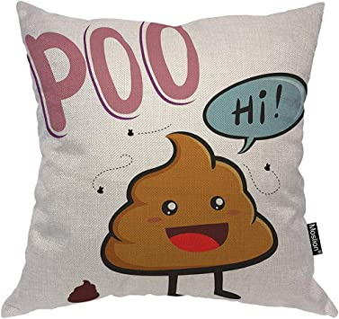 QDAS Cartoon Pillows Cute Smelly Poop